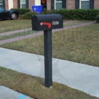 Eastwood Townhomes: Mailbox and Post