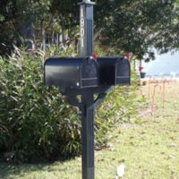 Richmond Cove: 2 Mailboxes and Post